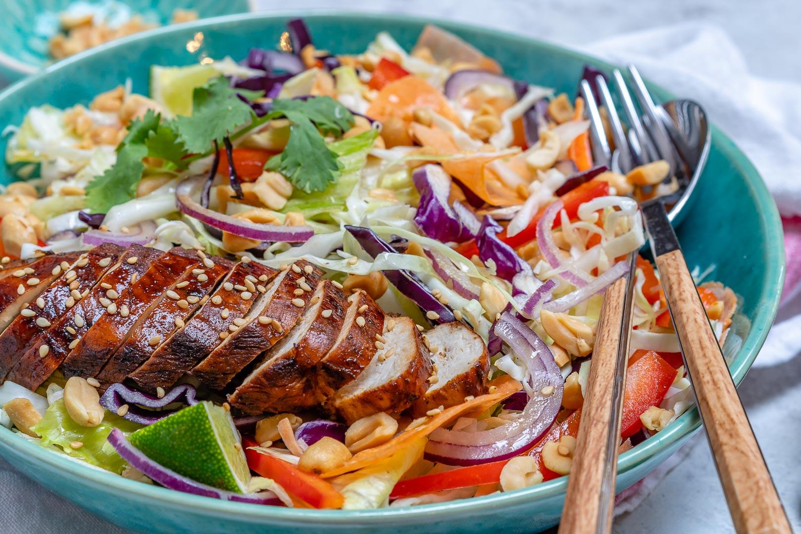 Chinese Blackened Chicken Salad