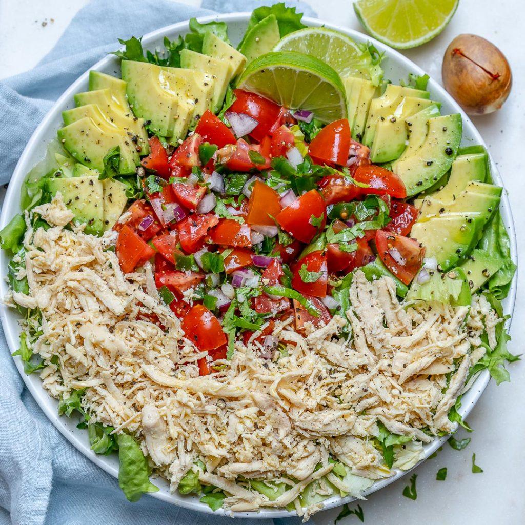 Simple Chicken Taco Salad Bowls