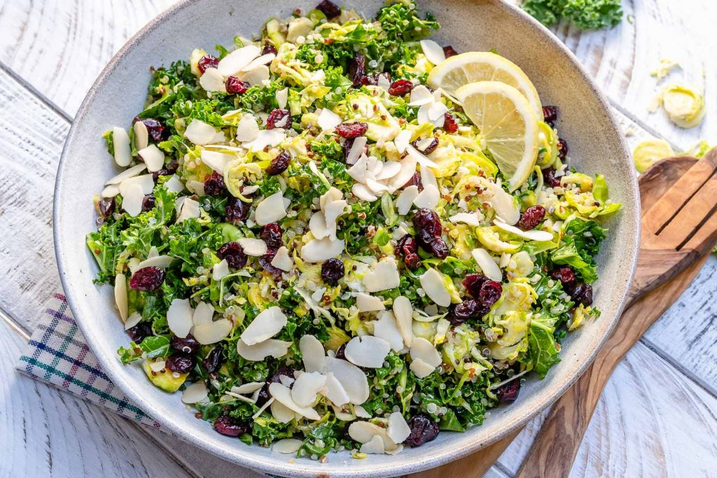 Shaved Brussels Sprouts + Quinoa Salad