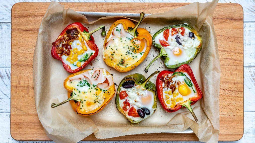 Egg Stuffed Breakfast Peppers for Epic Clean Eating Mornings!