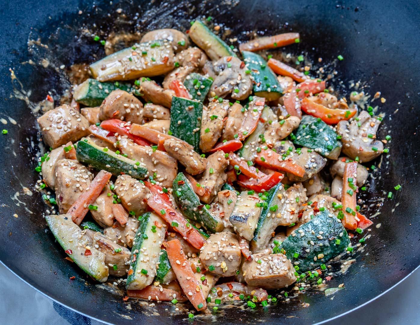 Hibachi Stir-fried Chicken + Veggies