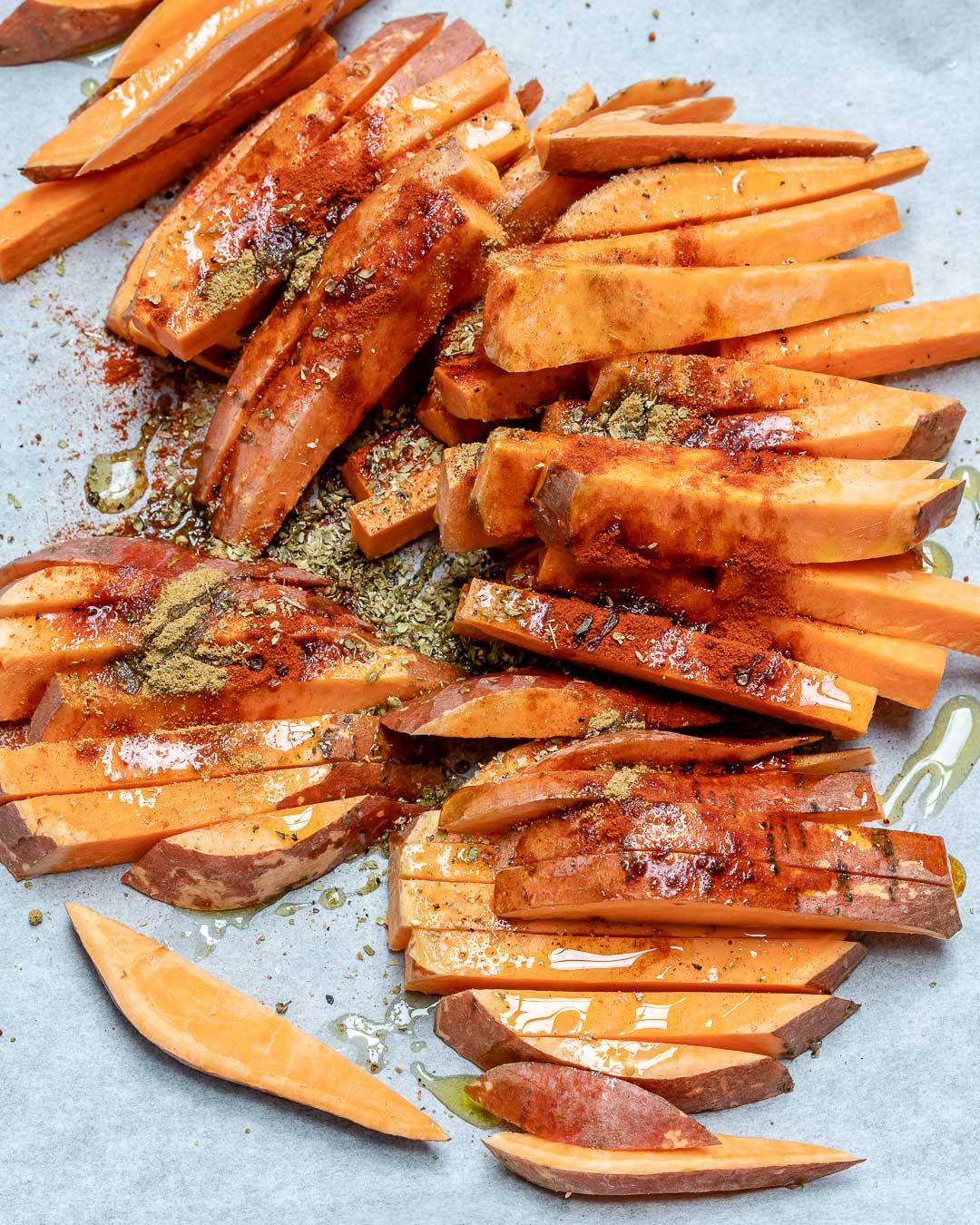 Recipe for roasted sweet potato fries