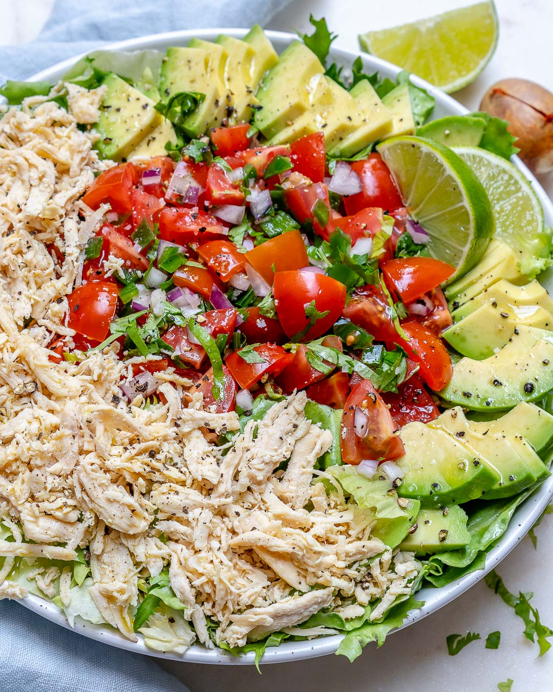 Chicken Taco Bowls Recipe: Simple Chicken Taco Salad Bowls For Clean Eating Meal Prep