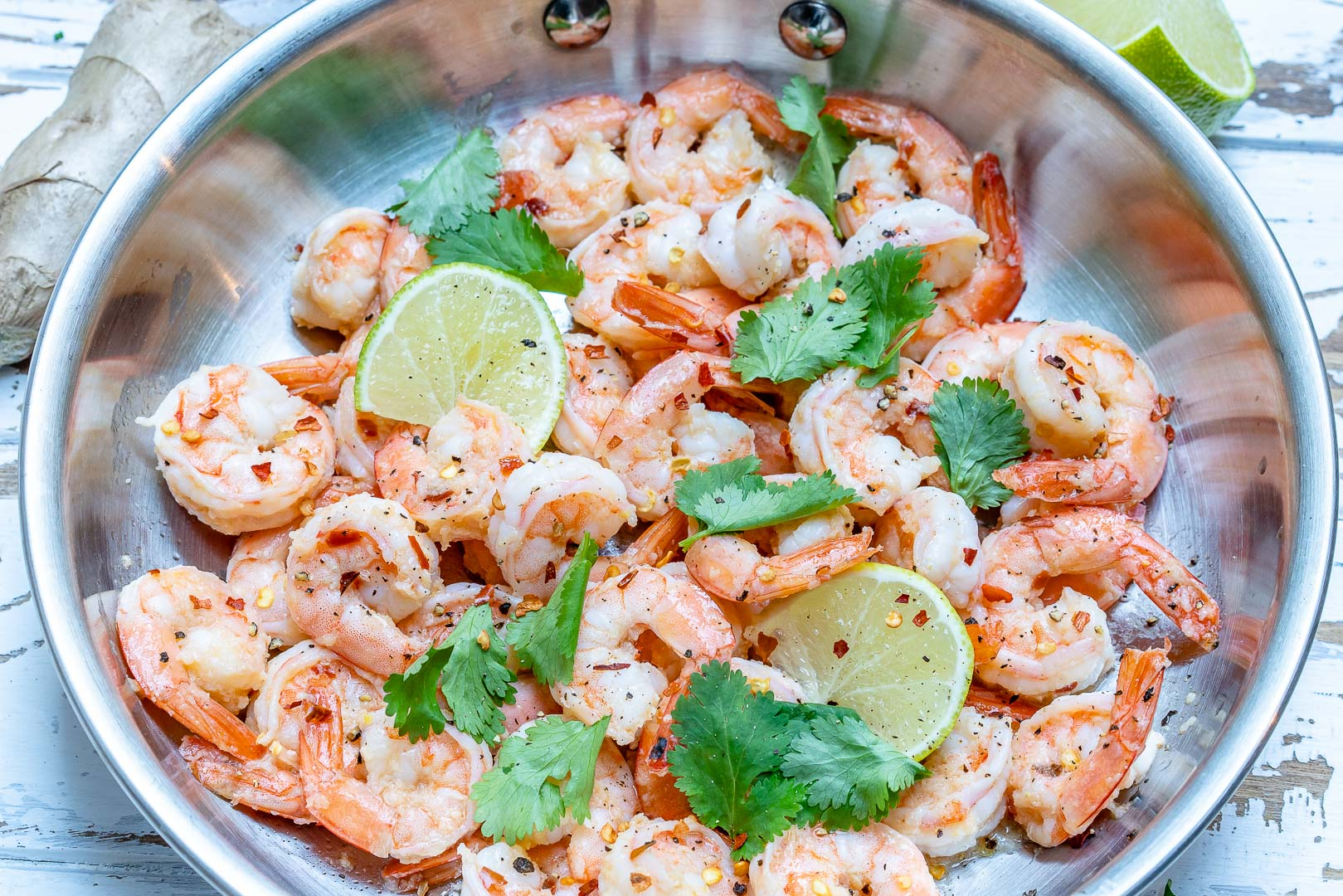 Spicy Cilantro Lime Shrimp Skillet