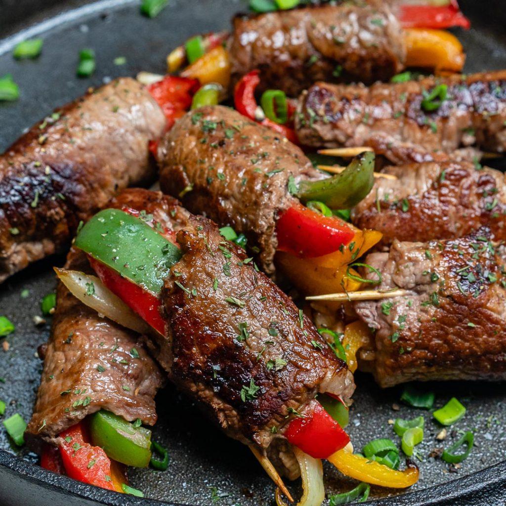 Steak Fajita Roll-Ups for Clean Eats