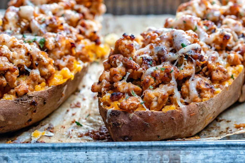 Double Baked Chipotle Chicken Sweet Potatoes
