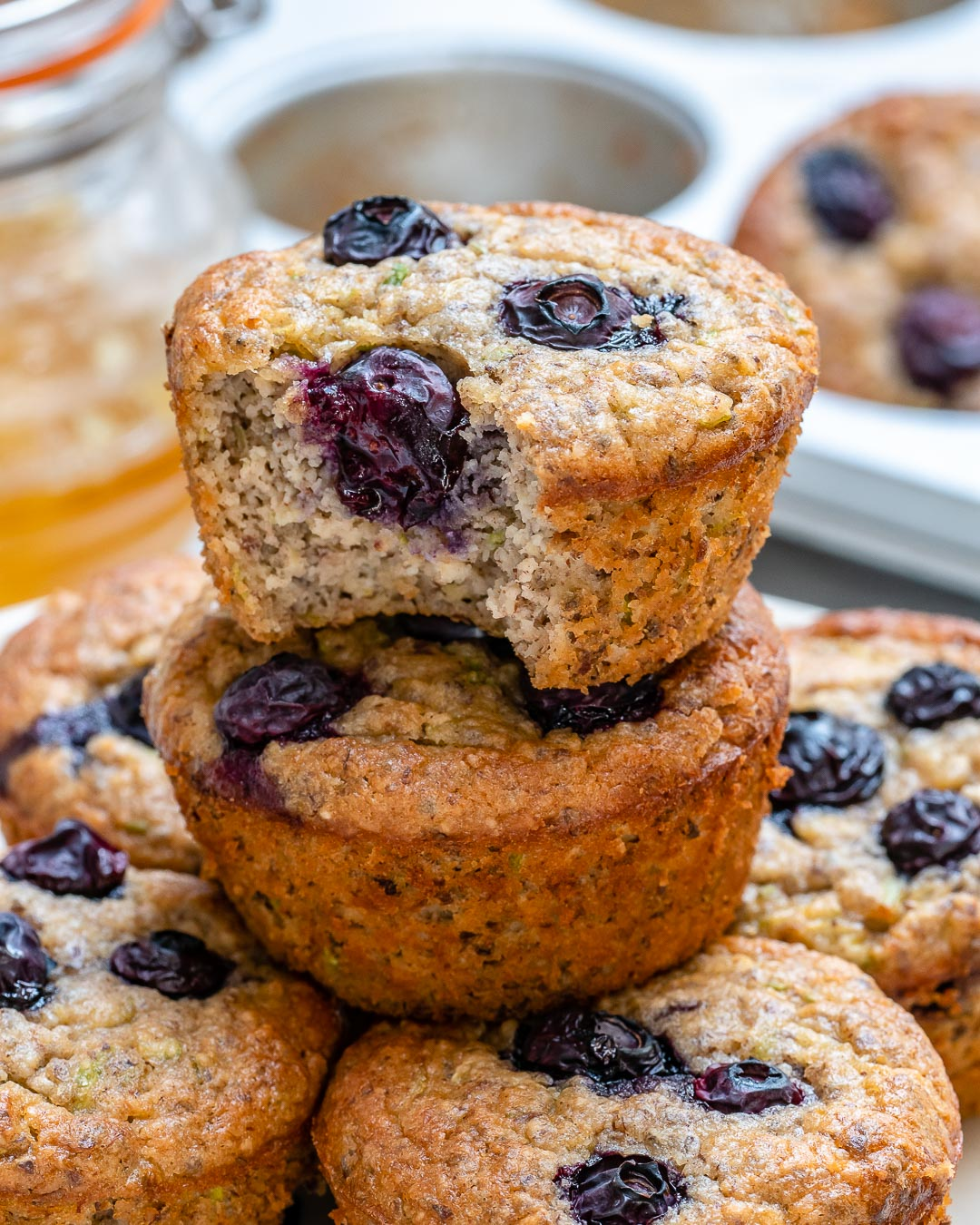 These Healthy Blueberry Zucchini Breakfast Muffins are Loaded with Nutrients!