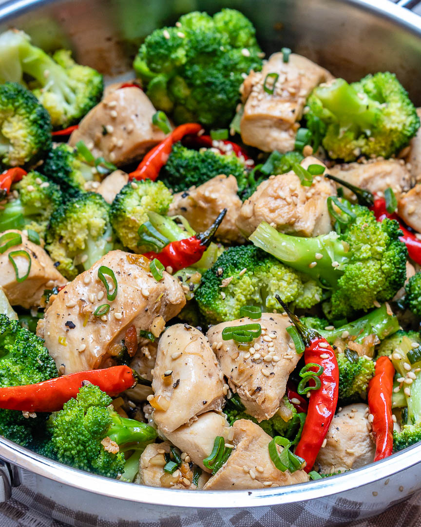 Spicy Chicken  Broccoli Stir-Fry For Quick Clean Eating -9620
