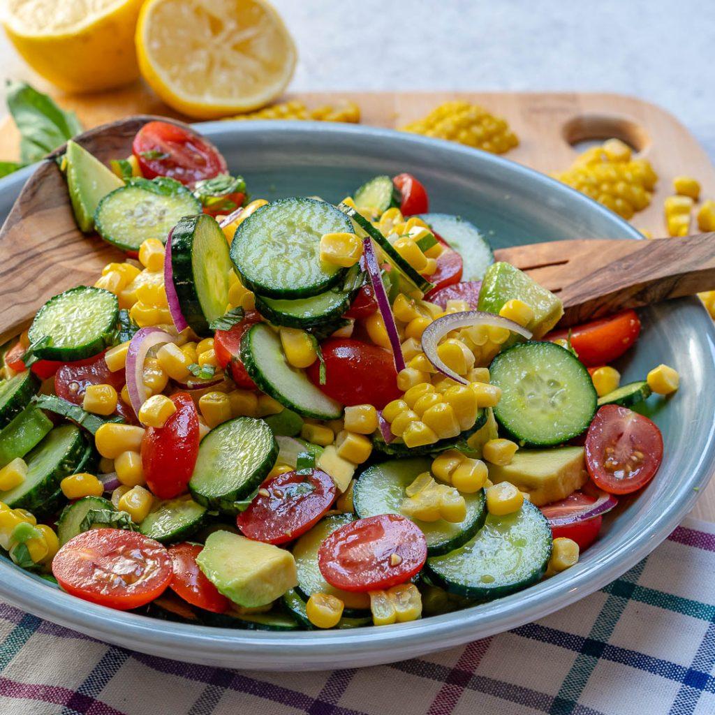 Fresh and Clean Avocado Corn Chopped Salad