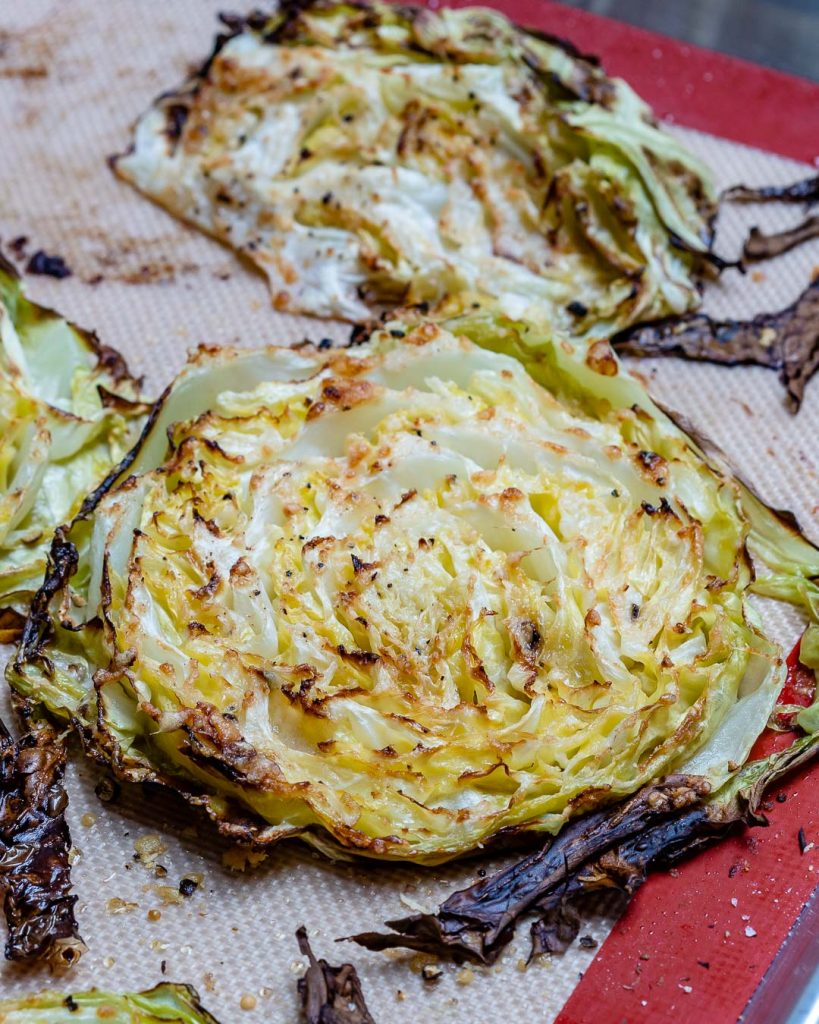 Roasted Parmesan Cabbage Steaks