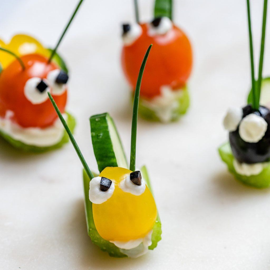 Super FUN Veggie Bug Snacks