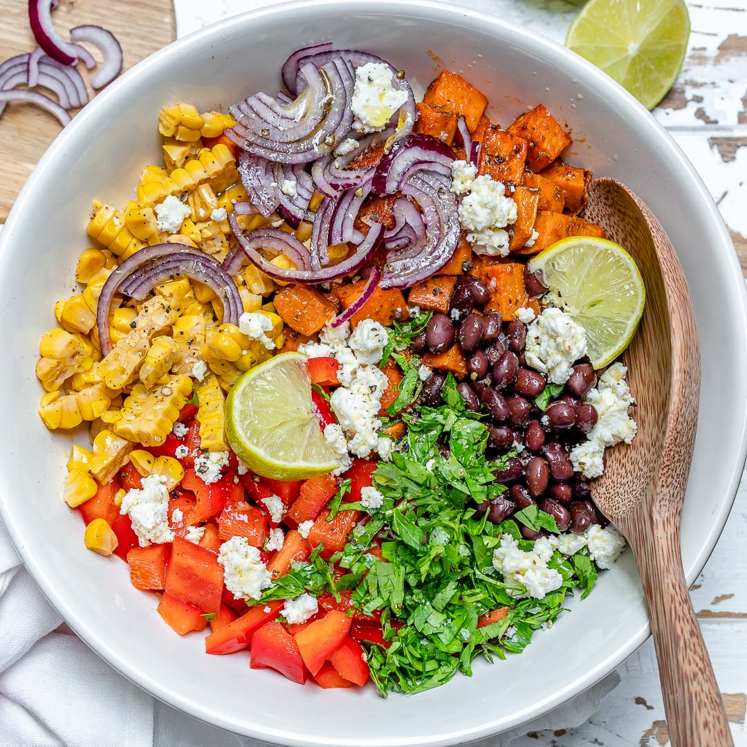 Chili Roasted Sweet Potato Salad For Delicious Clean Eats Clean Food Crush