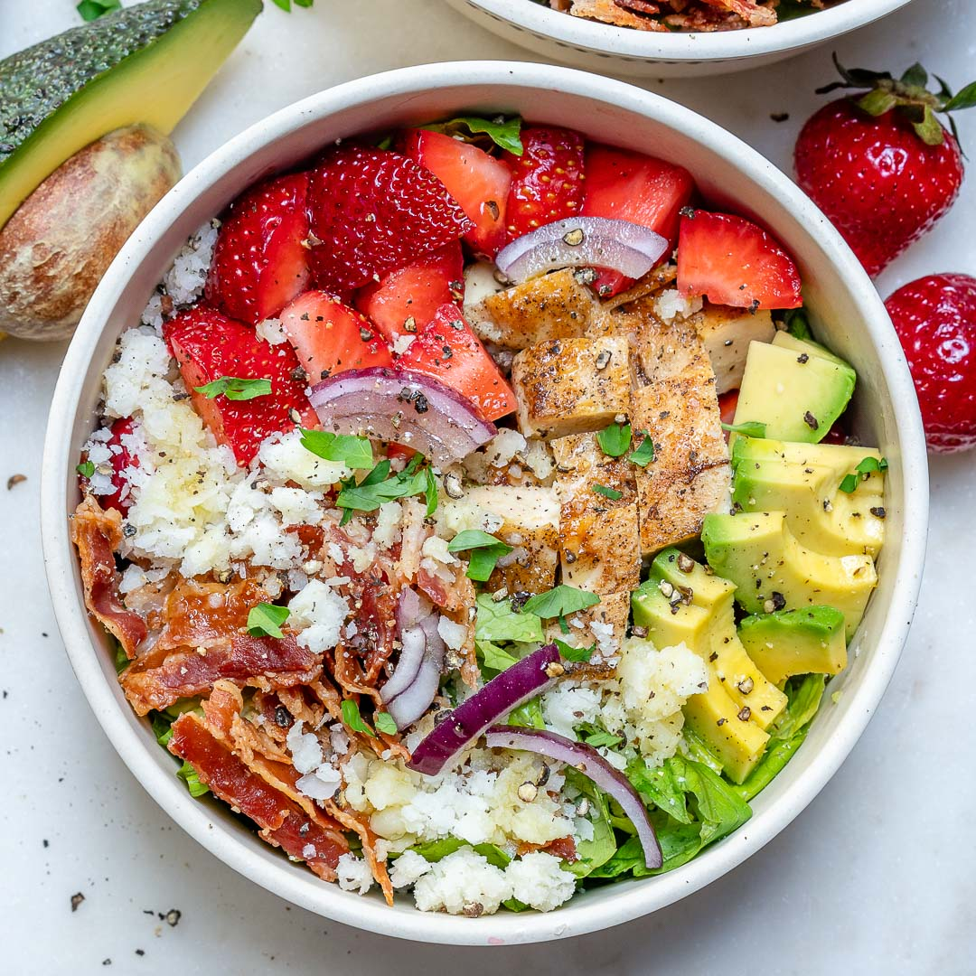 Chicken Strawberry Salad Bowls