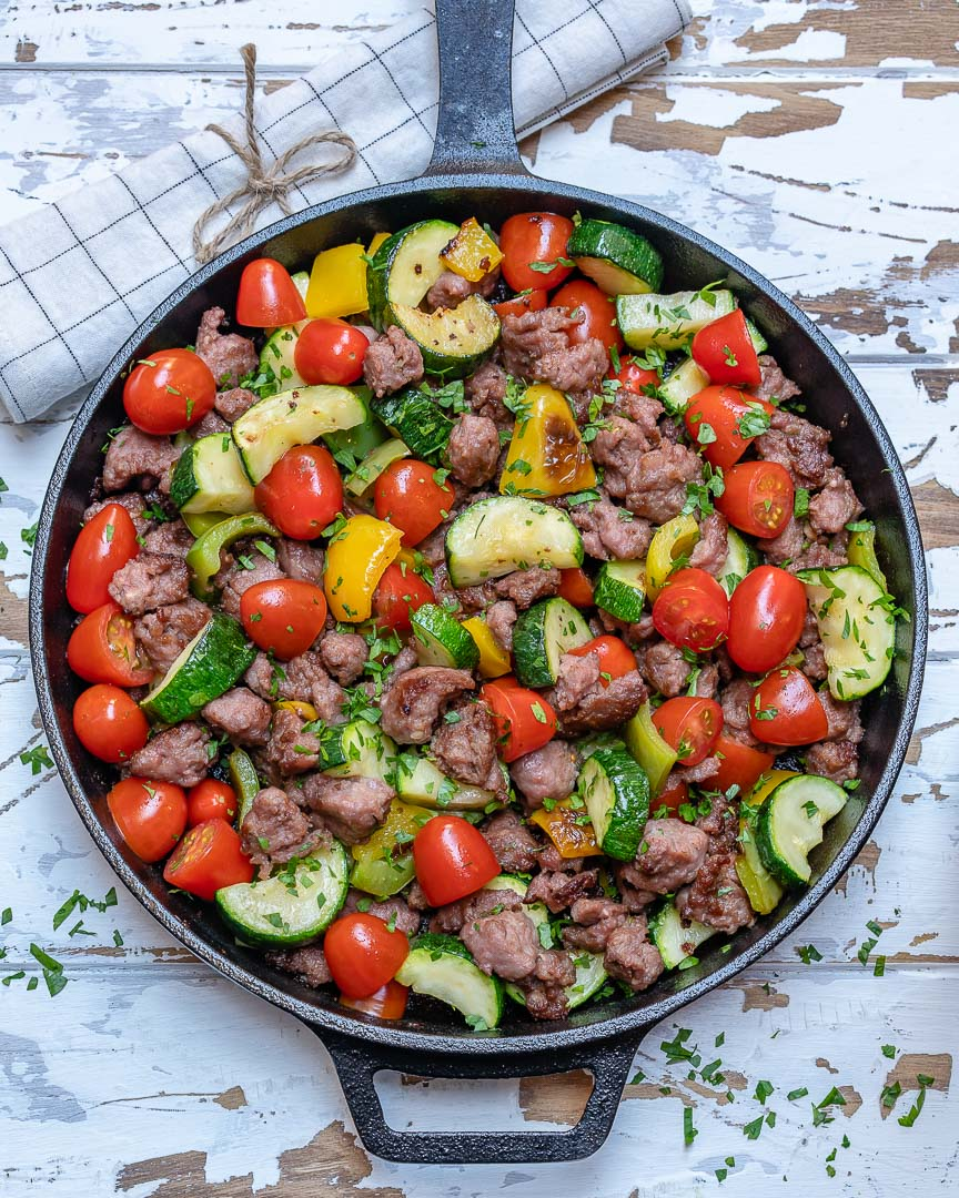 Quick & Easy Zucchini Beef Skillet