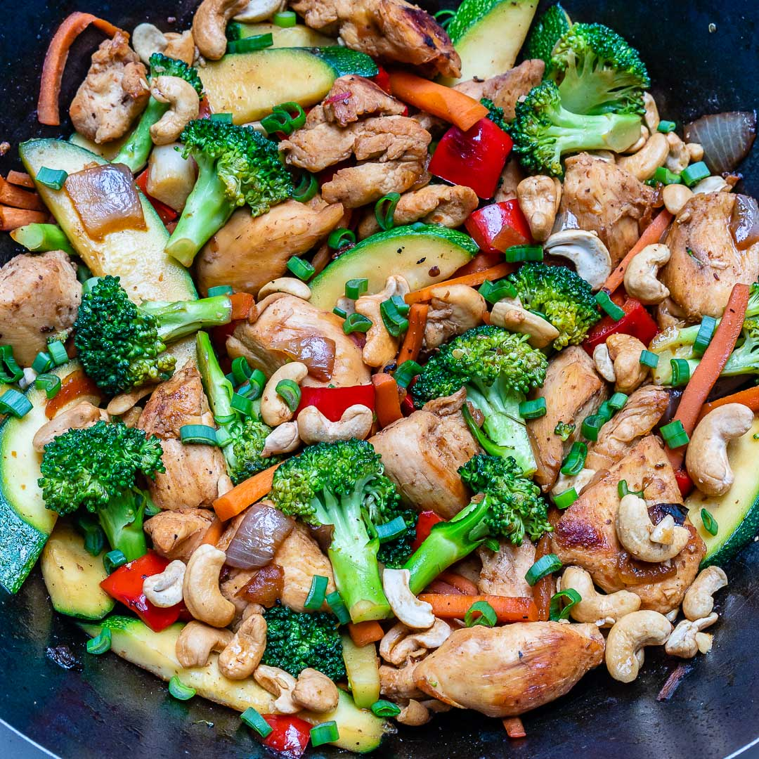 Cashew Chicken + Veggie Stir Fry