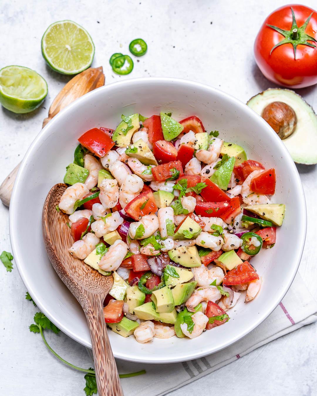 Cilantro Lime Shrimp Ceviche Chopped Salad