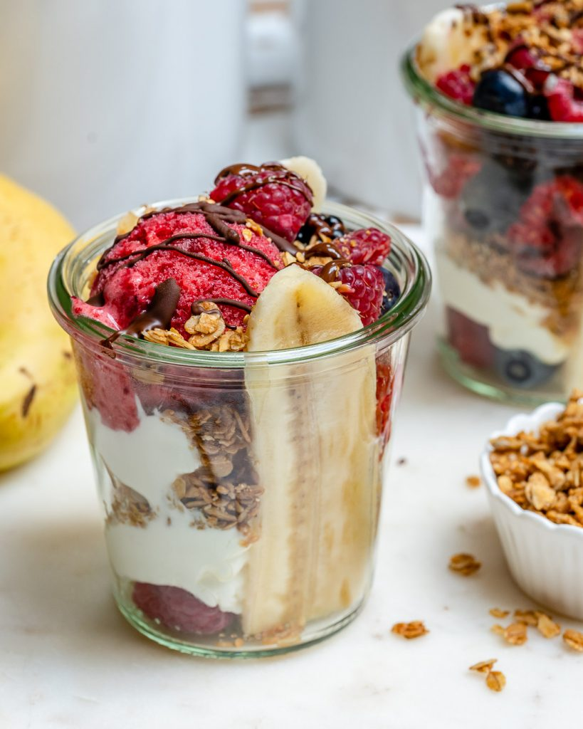 Banana Split Breakfast Jars