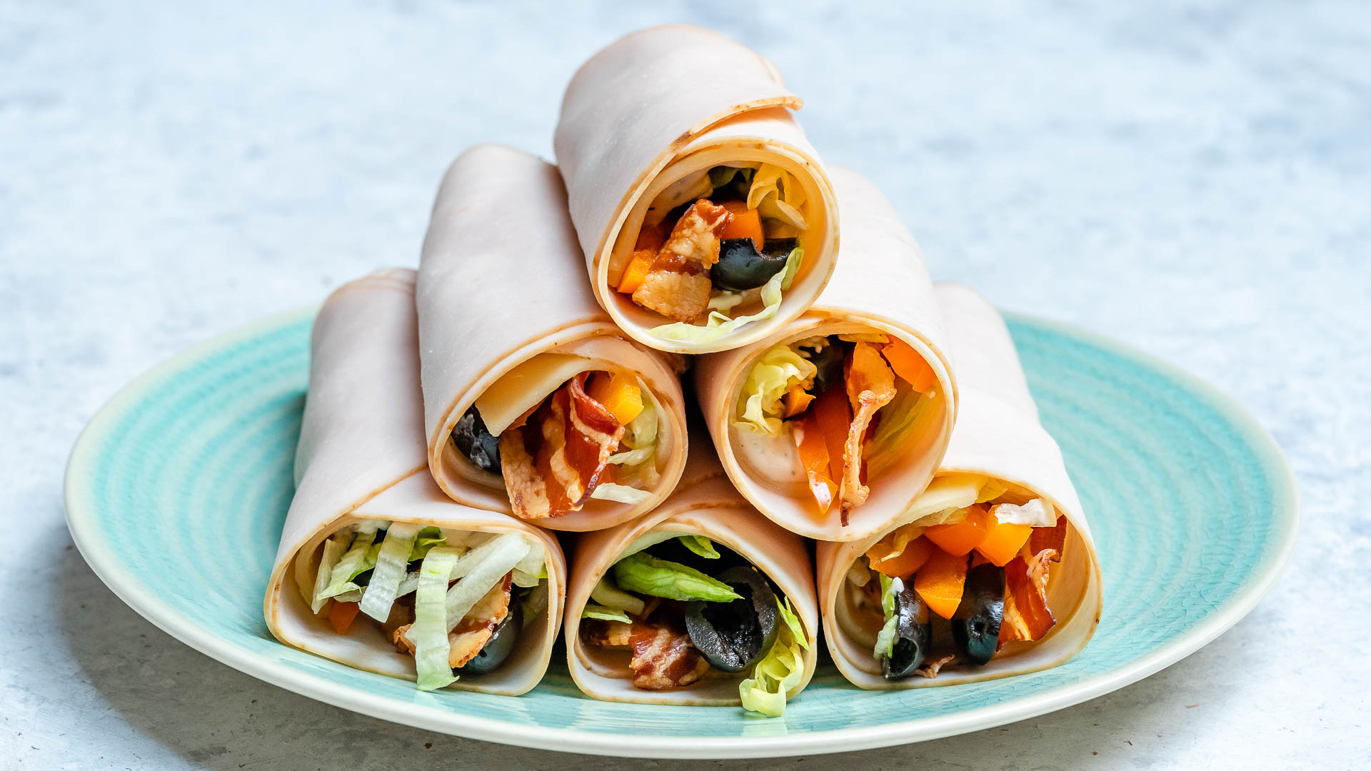 Low Carb Sandwich Roll-ups