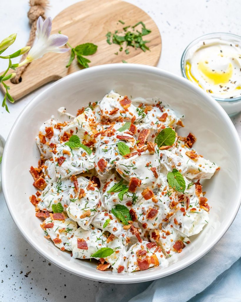 Healthy Creamy Potato Salad for Summertime Clean Eating!