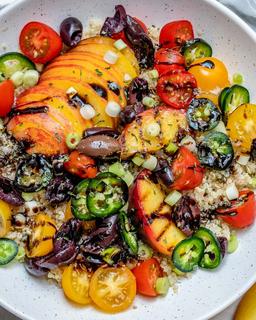Grilled Peach Quinoa Salad