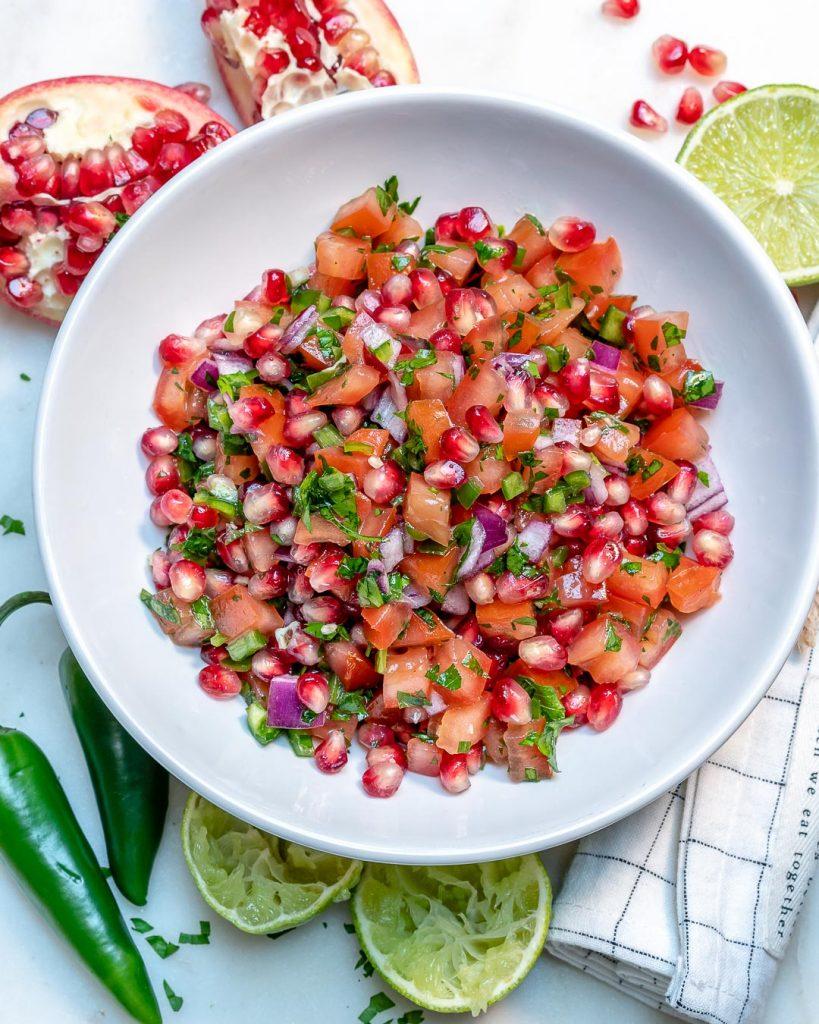 Fresh Pomegranate Salsa