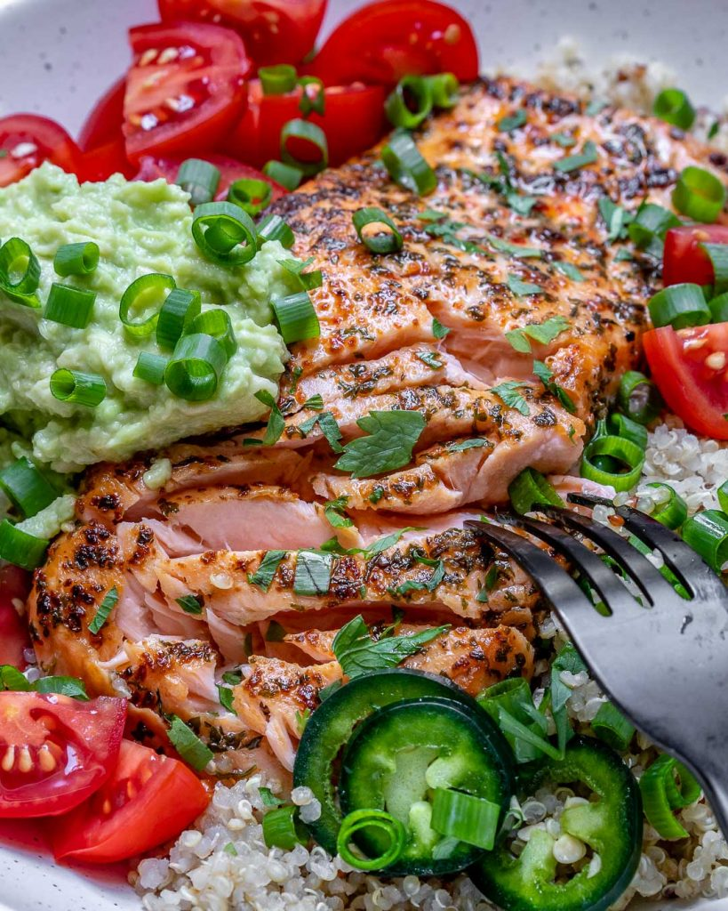 Garlic Herb Salmon Bowls
