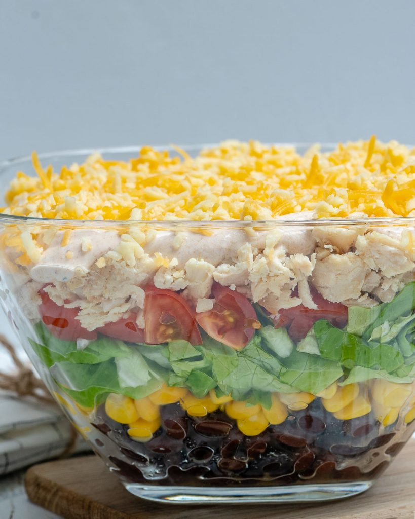 Seven Layer Chicken Taco Salad