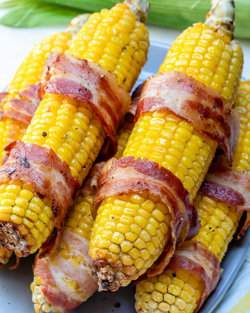 Bacon Wrapped Corn for Summertime Fun