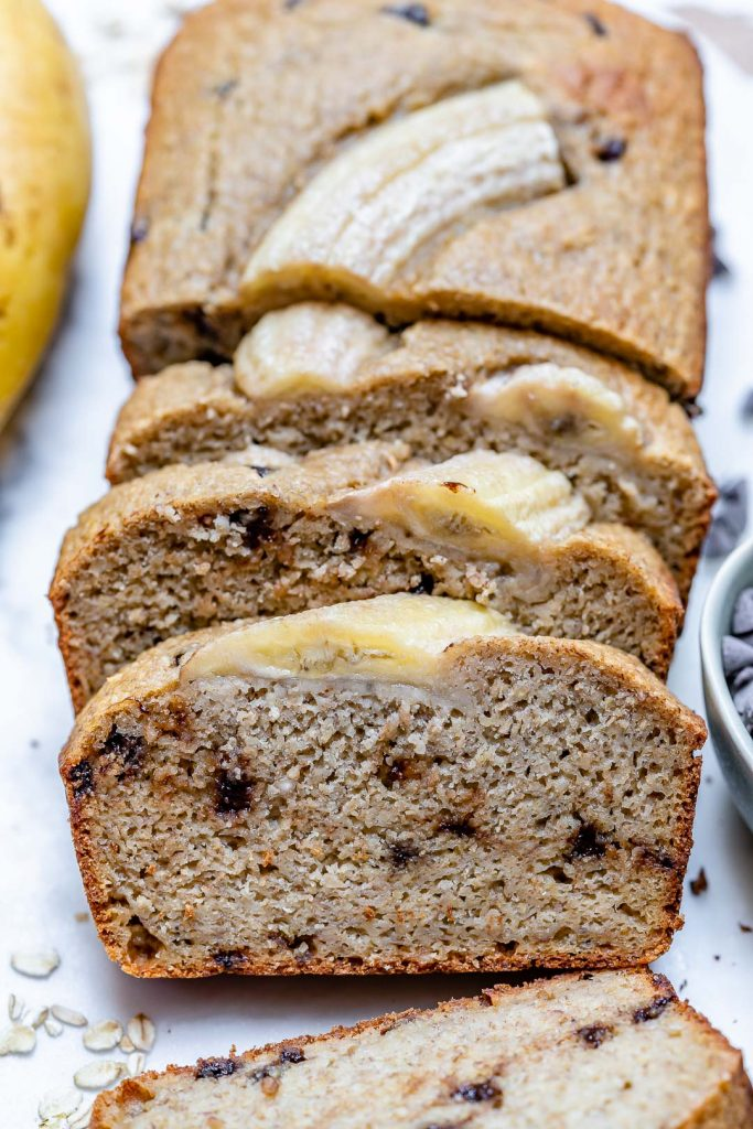 Chocolate Chip Blender Banana Bread