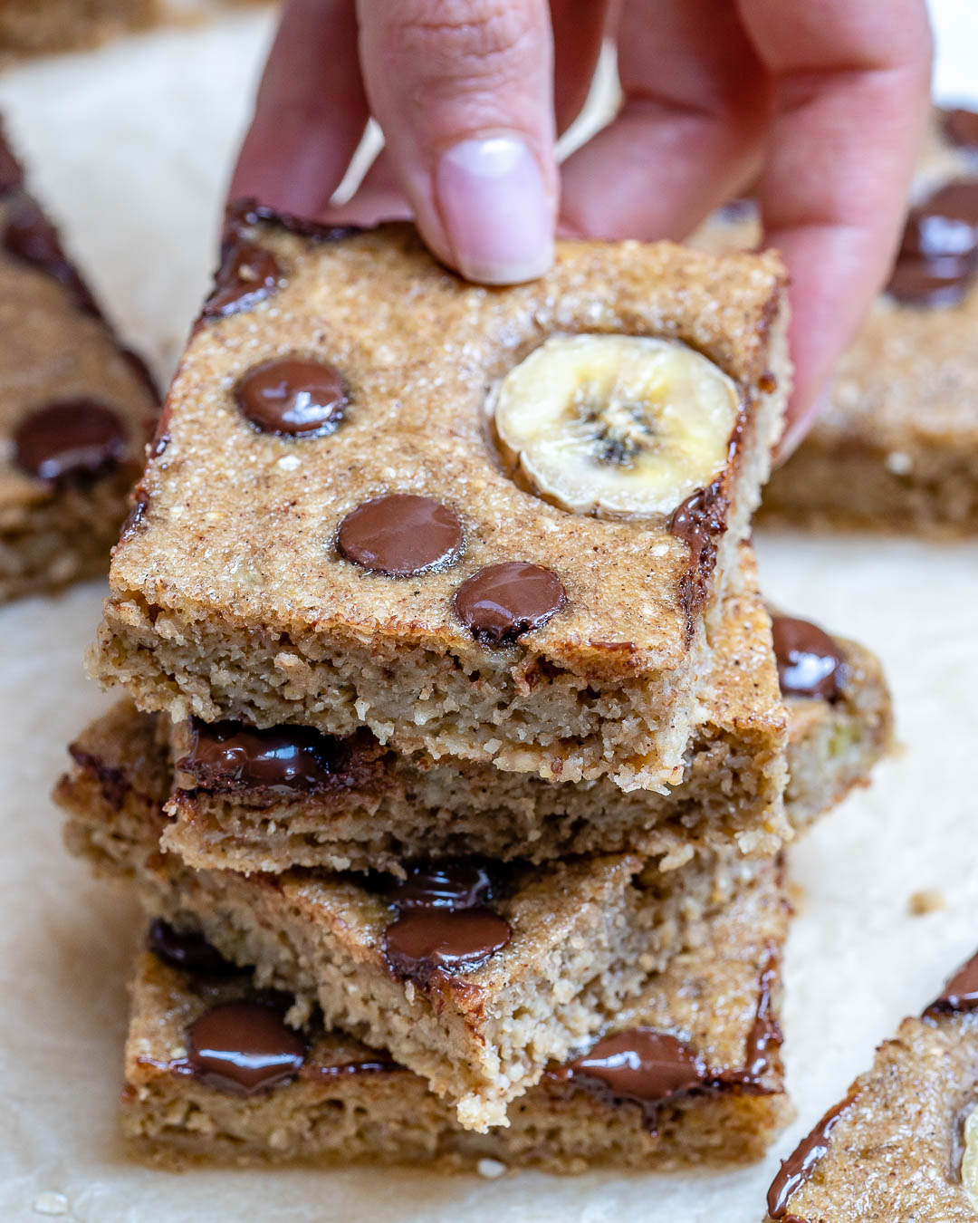 Oatmeal Chocolate Chip Banana Bar