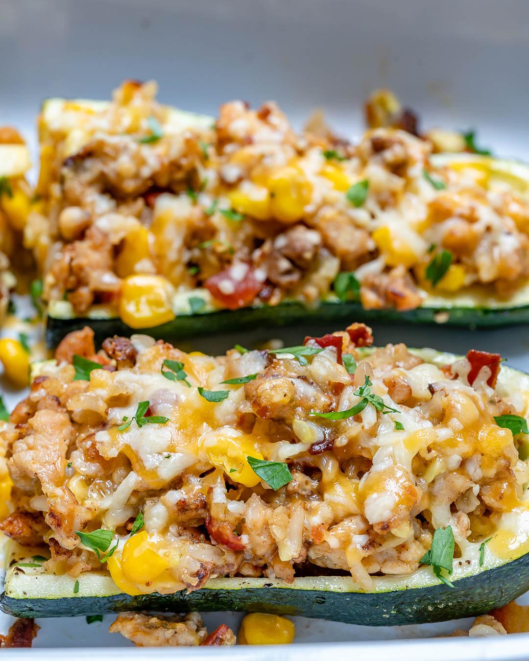 Burrito Stuffed Zucchini Boats