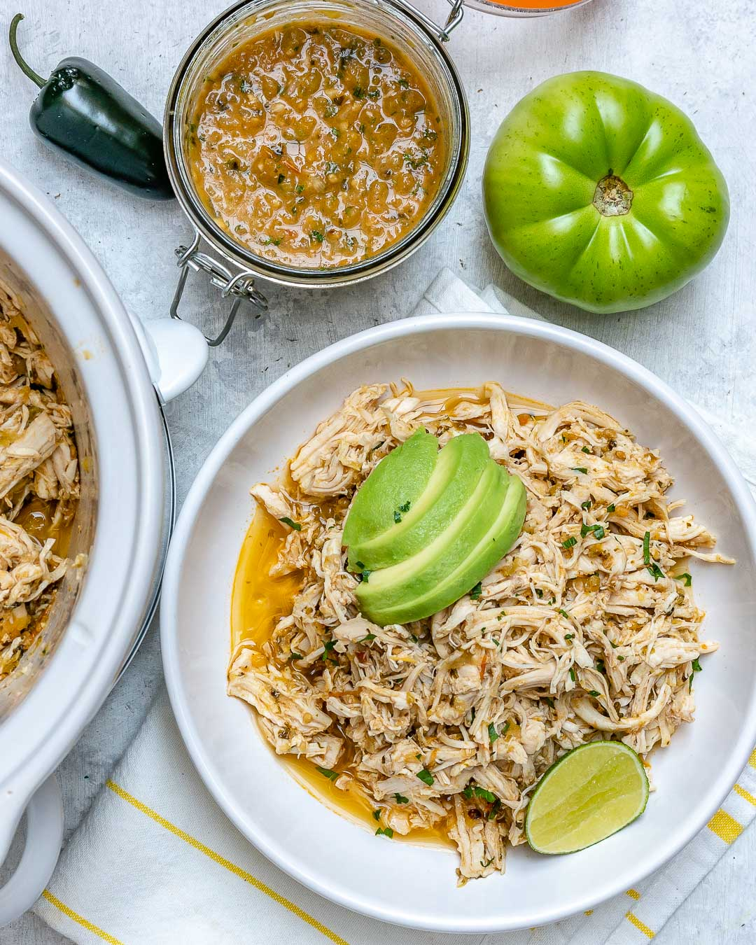 Green Salsa Verde Chicken for Clean Eating in a Flash!