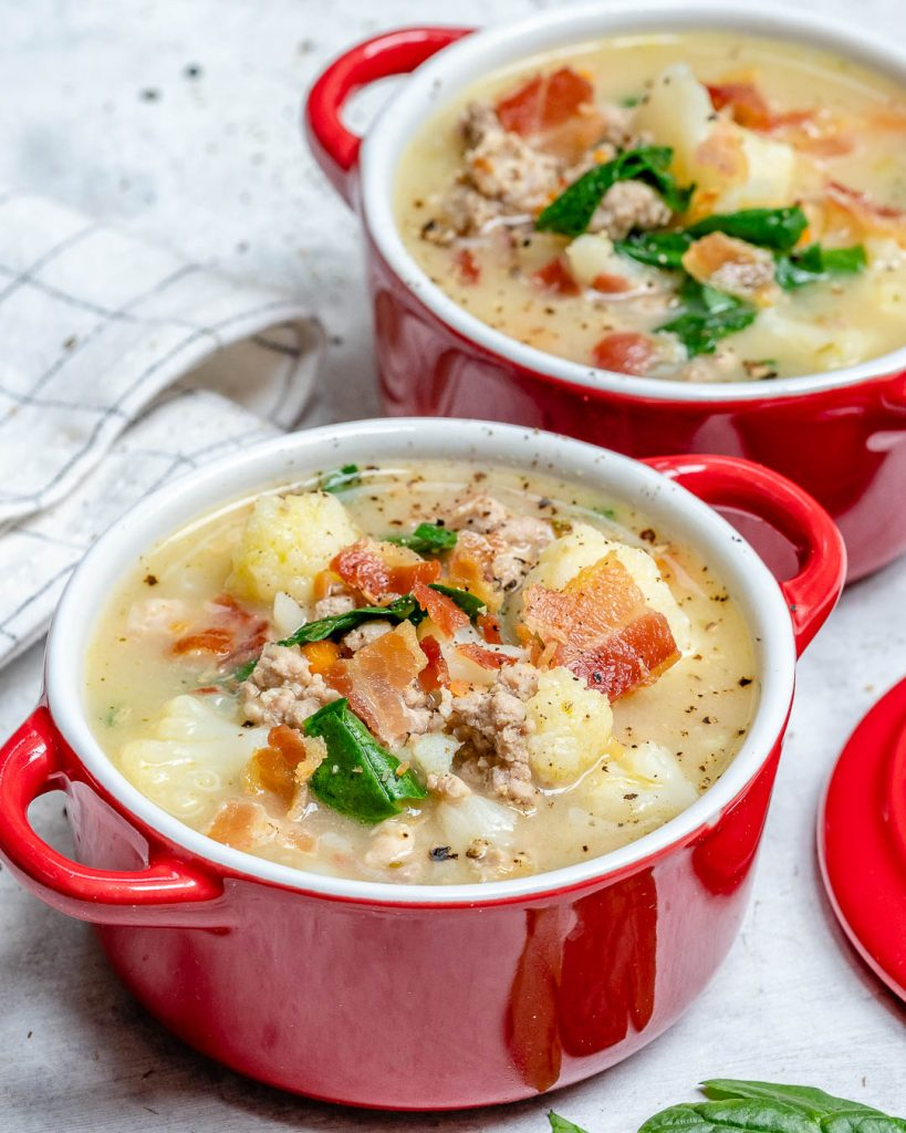 Creamy + Skinny Tuscan Soup
