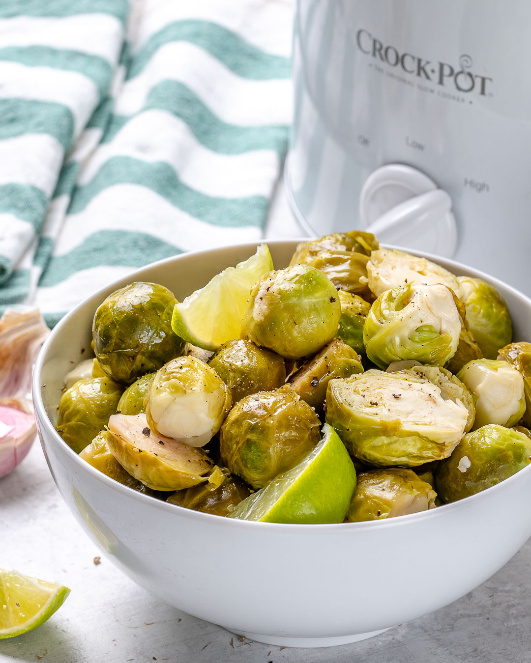 Garlic Lime Brussels Sprouts