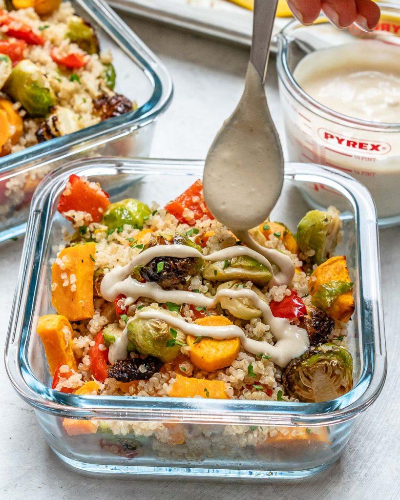 Roasted Veggie + Quinoa Meal Prep Bowls