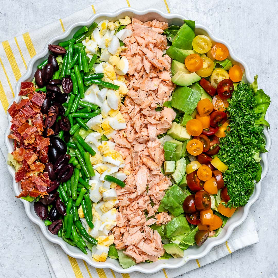 Salmon Cobb Salad for Clean Eating