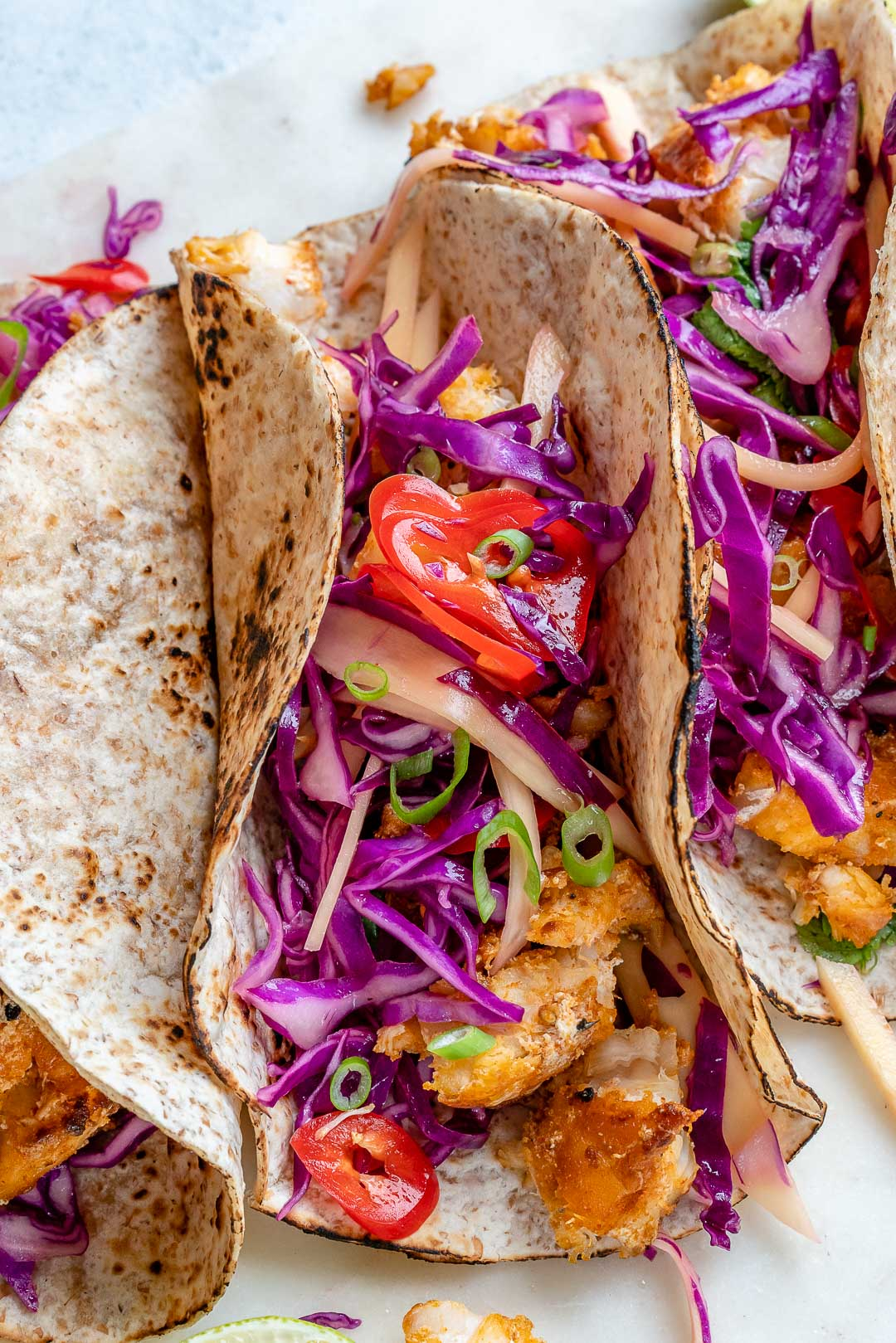Fish Tacos + Cabbage Slaw