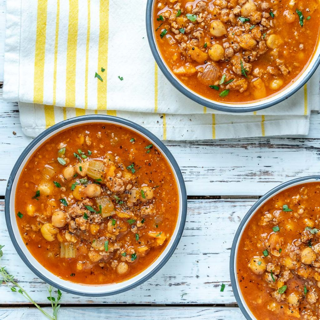Cozy up with this Moroccan Spiced Turkey Soup!