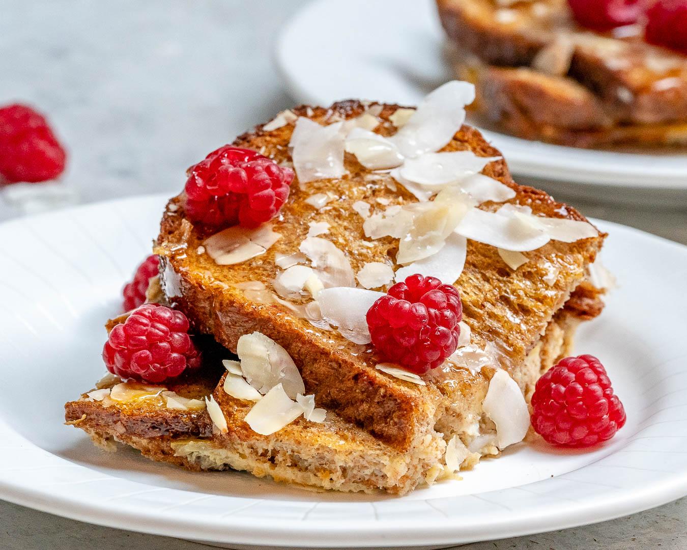 Raspberry French Toast Overnight Casserole