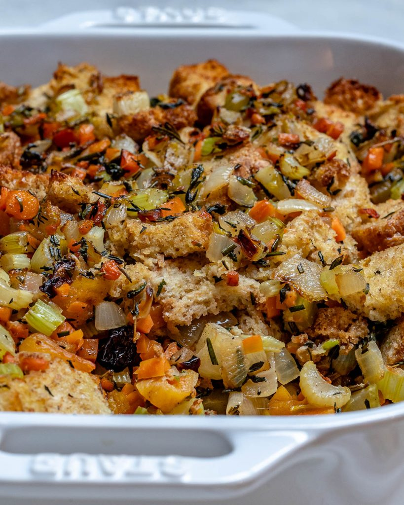 Ezekiel Bread Stuffing for a Clean Thanksgiving Side!