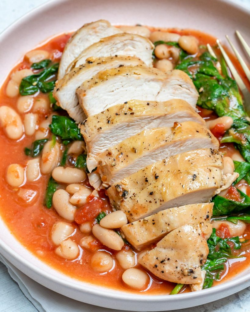 Tuscan Chicken White Bean Skillet