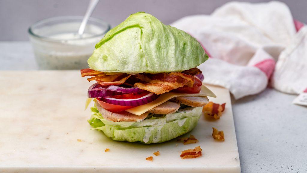 "Turkey BLT ""Sandwich"" aka Crispy Lettuce Buns"