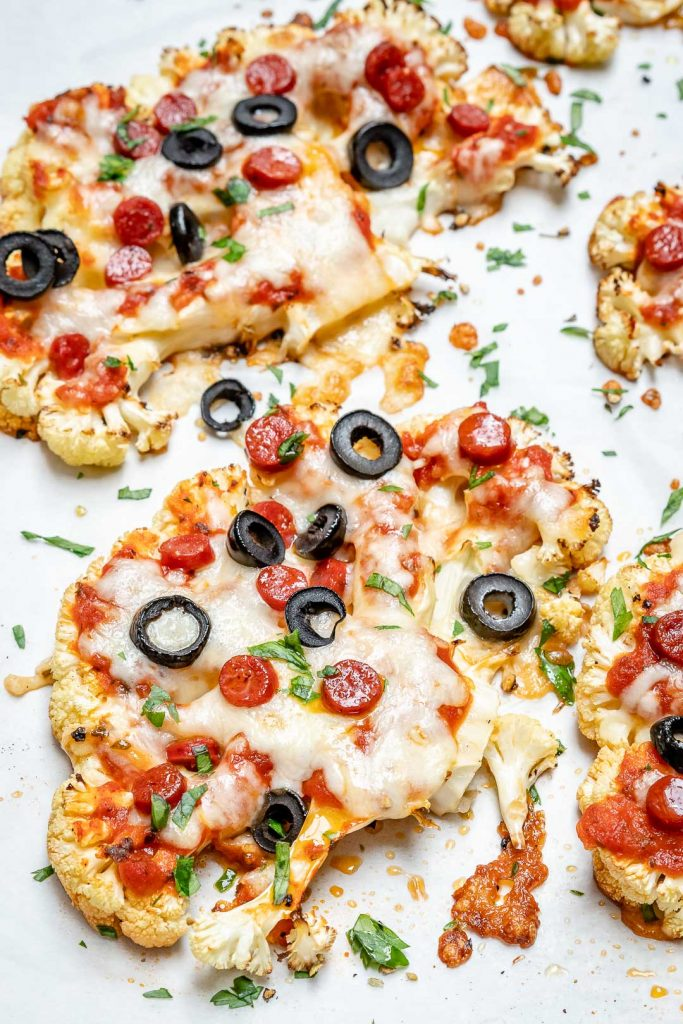 Cauliflower Steak Pizza for Low-Carb Comfort Food!