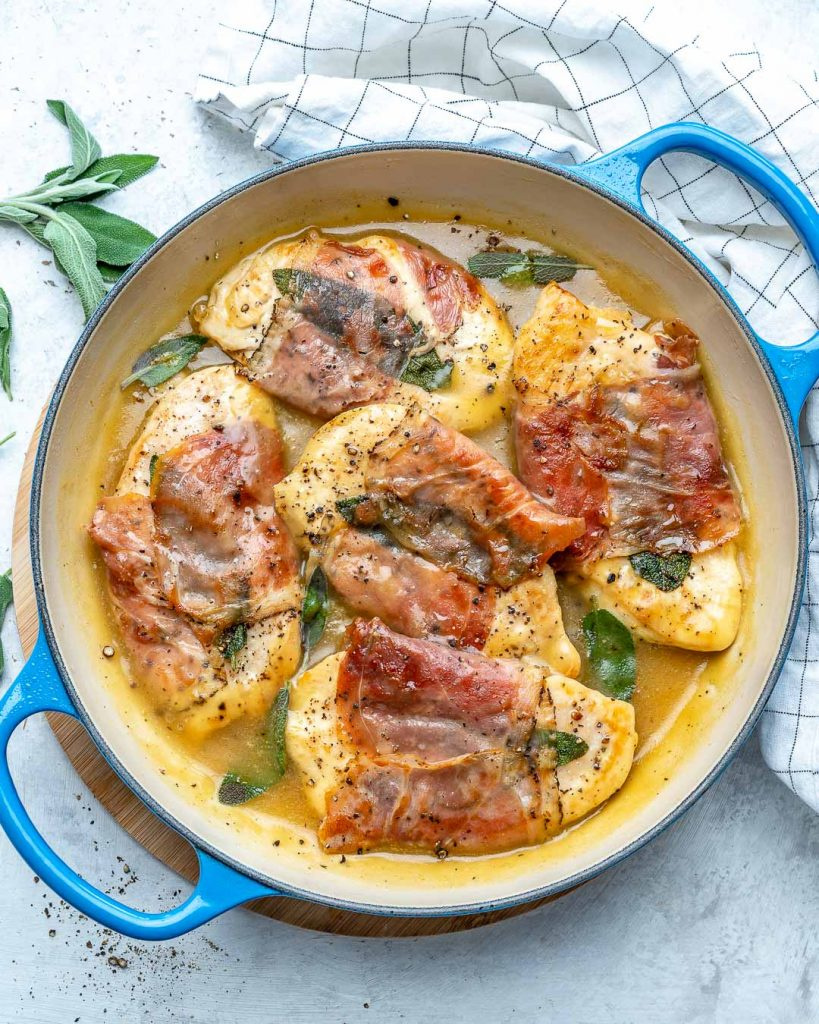 Chicken Saltimbocca for an Amazing Clean Eating Dinner Idea!