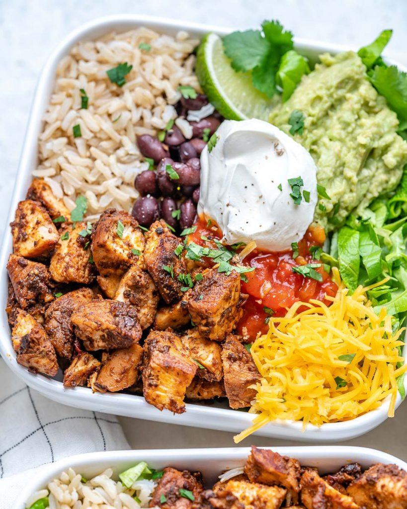 Copycat Chipotle Chicken Burrito Bowls CFC Style