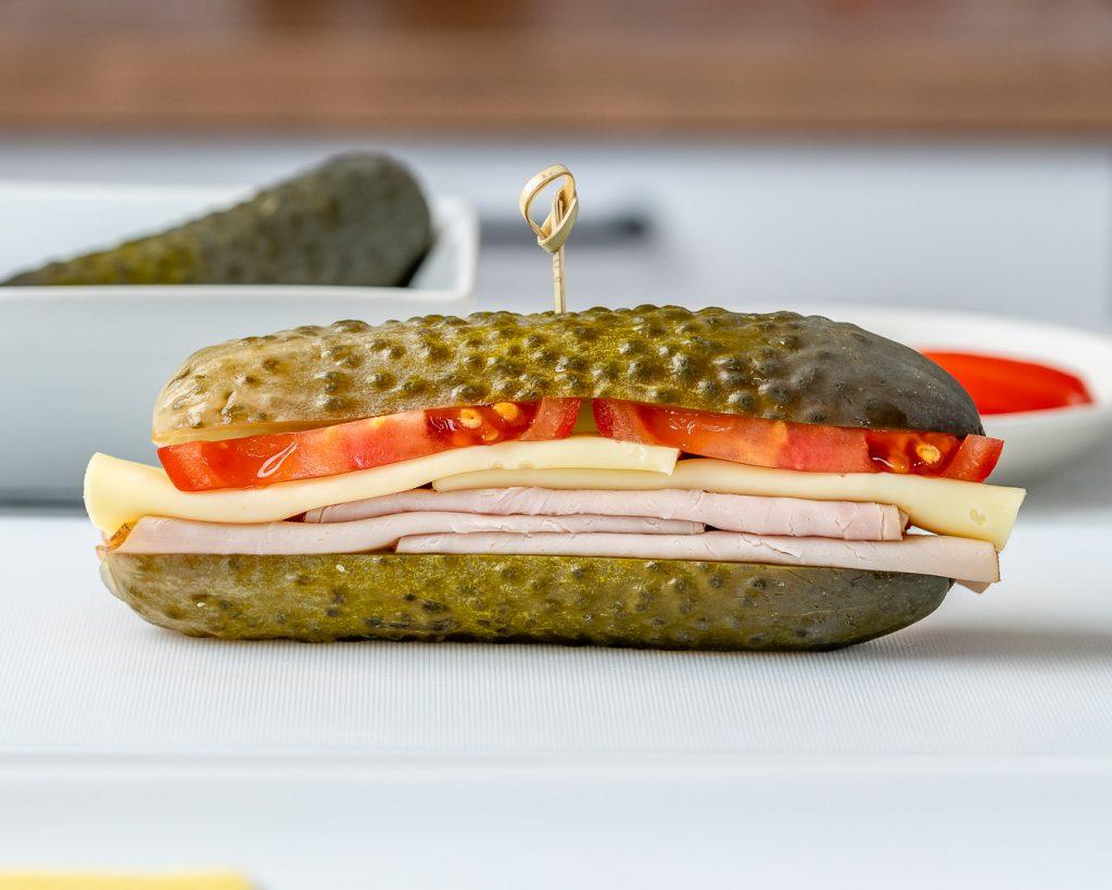 Quick + Easy Pickle Sandwich for a Super Fun Lunch or Snack Idea!