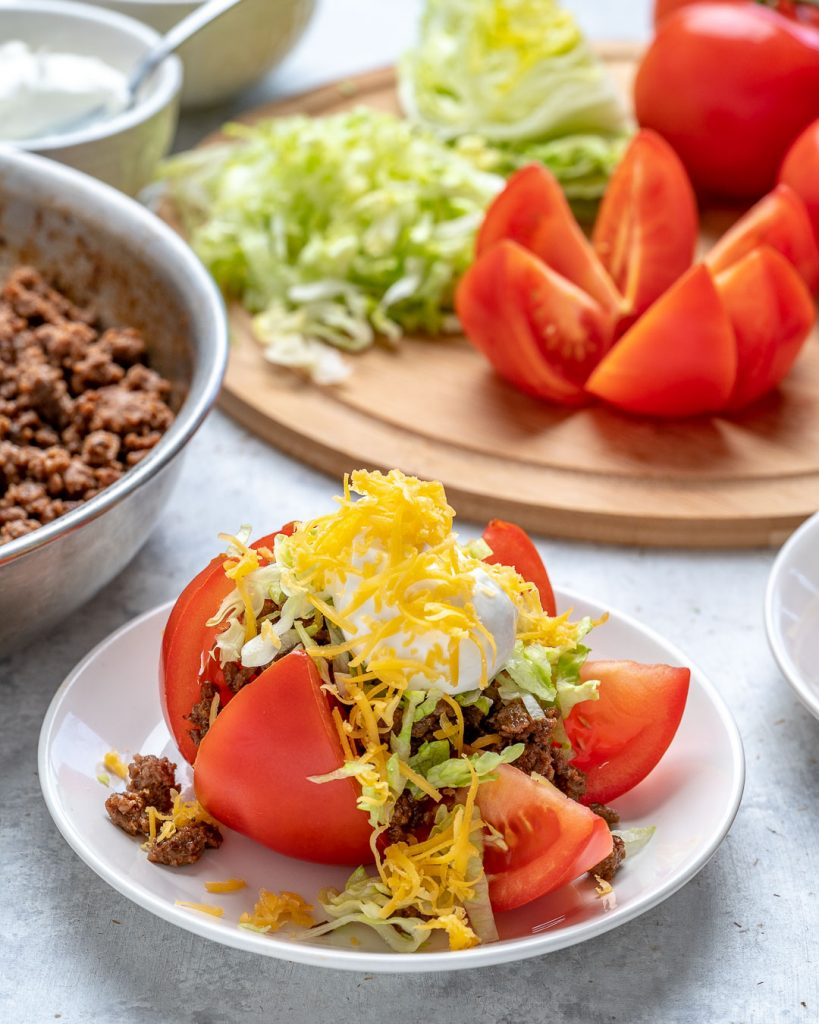 Low Carb Taco Tomatoes