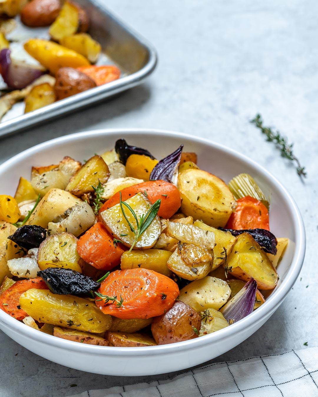 Eat Clean Rosemary Roasted Root Vegetables Clean Food Crush