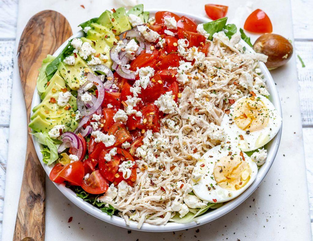 Shredded Chicken Cobb Salad