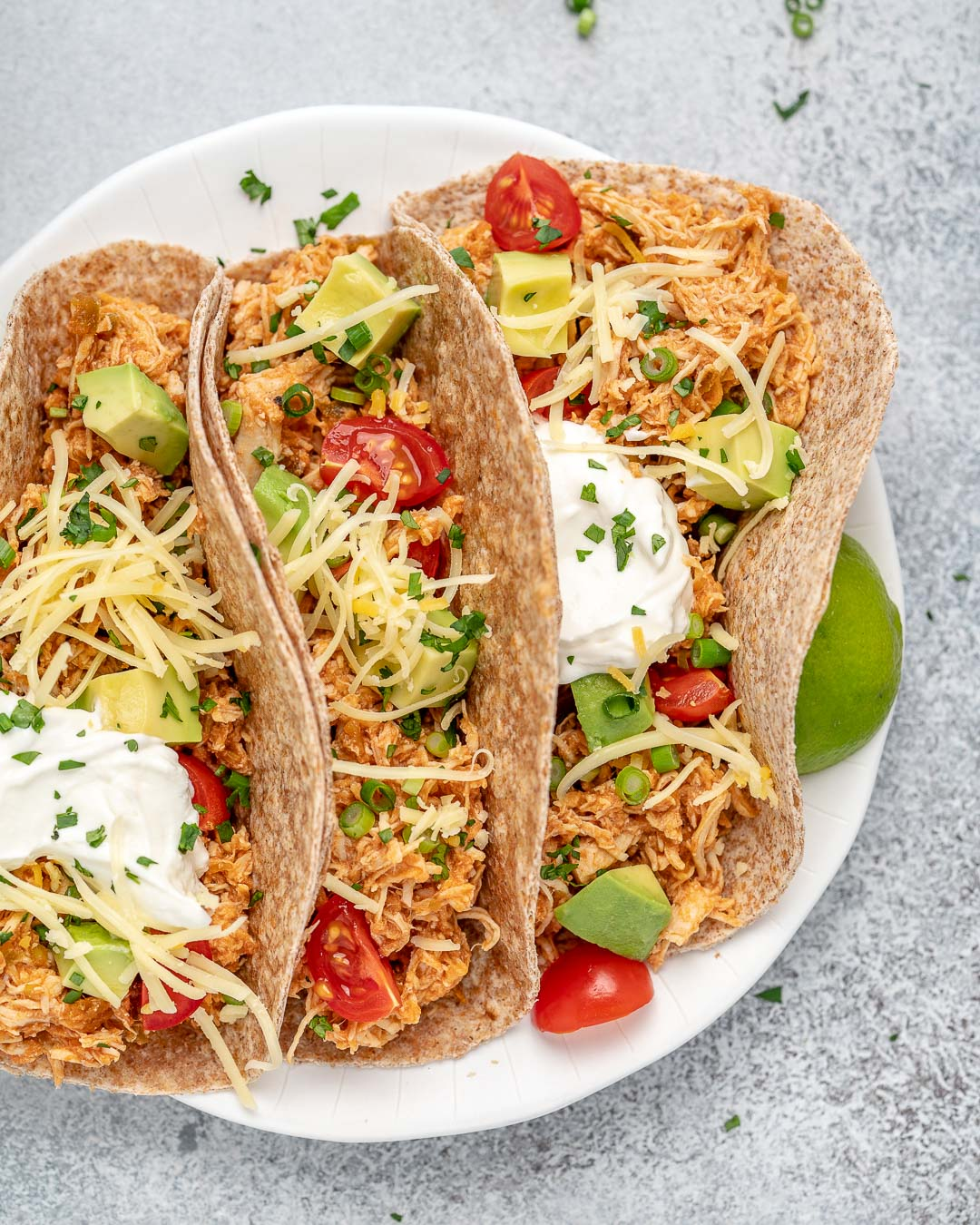 Crockpot Or Instant Pot Chicken Tacos Clean Food Crush